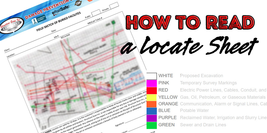 How to Read a Locate Sheeet